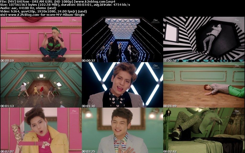 [MV] SHINee - Dream Girl (HD 1080p Youtube)