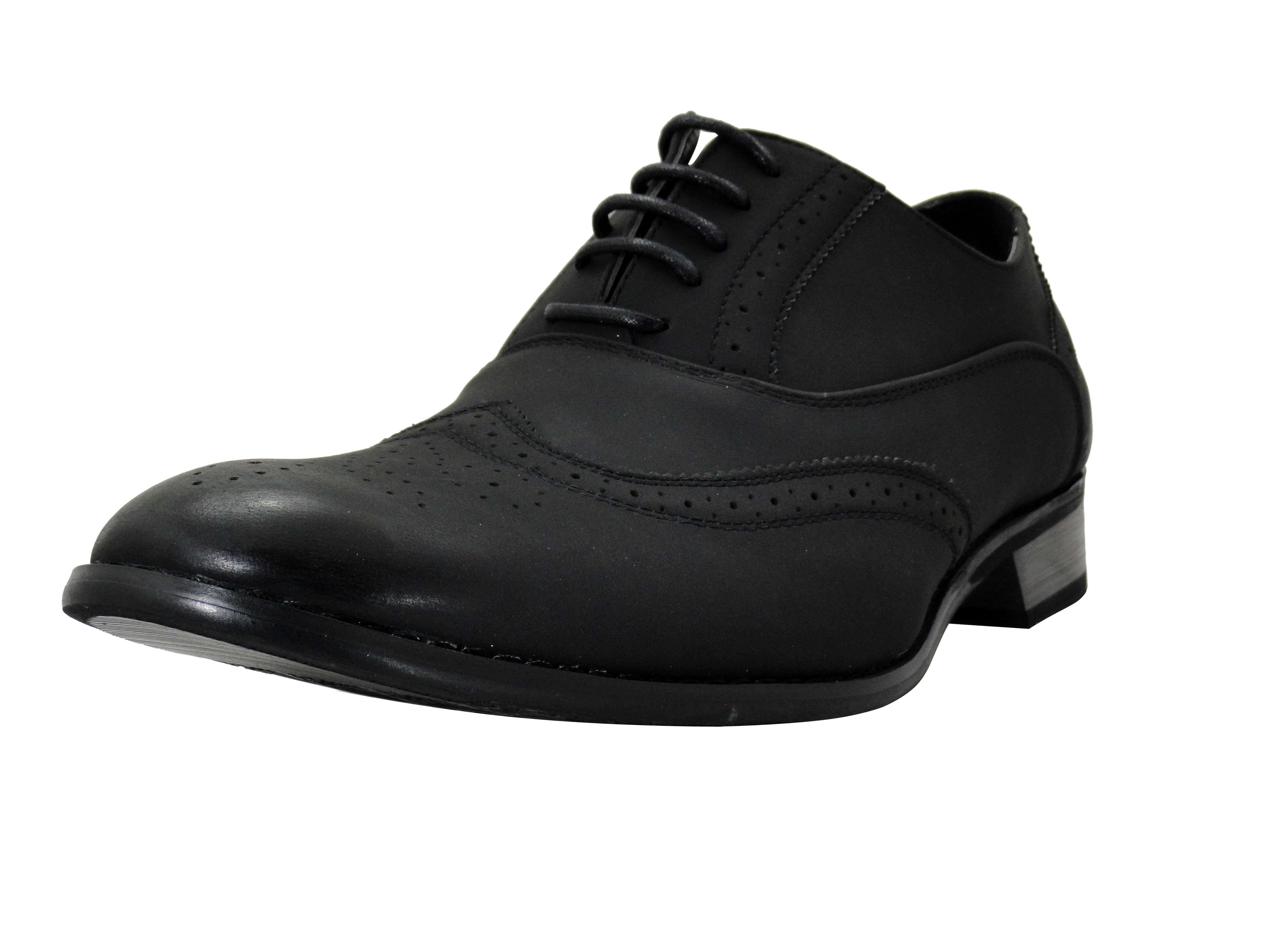 mens dress shoes parrazo black wingtip oxford lace up