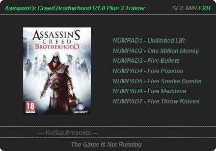 1Assassins Creed Brotherhood Trainer